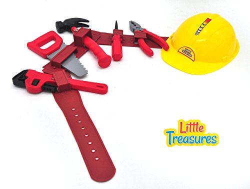 Little-Treasures-Worker-Man-Toolset-with-Tool-Belt-and-Yellow-Hard-Hat-for-My-Jr-handy-man-Pretend-Play-Kids-Toy-set