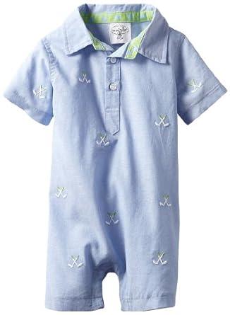 Amazon.com: Mud Pie Baby-Boys Newborn Golf Romper, Blue, 0
