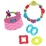 Bright Starts Babys Teethers 3 Pack (Carry & Teethe Purse, Starry Teether & Chill and Teethe)