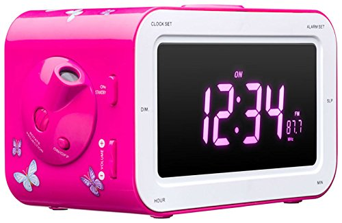 Big Ben Interactive Radio Sveglia Fairy AM/FM con Display LCD, Rosa