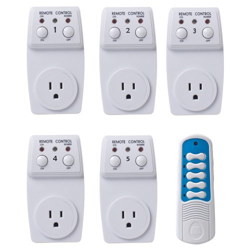 5 X Wireless Remote Control Ac Electrical Power Outlet Plug Switch