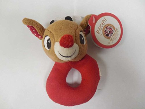 Baby's First Christmas Ring Rattle - Rudolph