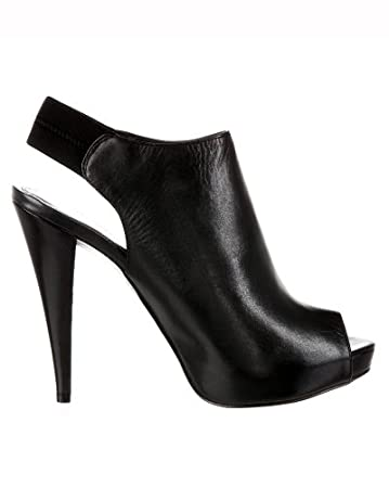 bebe Belinda Leather Bootie - Web Exclusive :  belinda stiletto heels shoe
