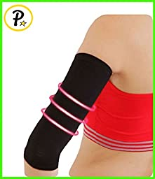 NEW Compression Slim Arms Sleeve Shaping Cellulite Slimmer Sports 1 Pair Sleeve (Black)