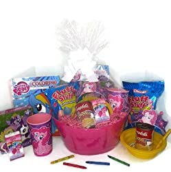 My Little Pony Gift Basket, Get Well Soon, Care Package, Kids Action Pack My Little Pony Toy Puzzle, Coloring Book, Crown, Bag, Tissue, Stickers, Cup + Cotton Candy, Bowl & Campbell's Soup 11pc Bundle from Mixed