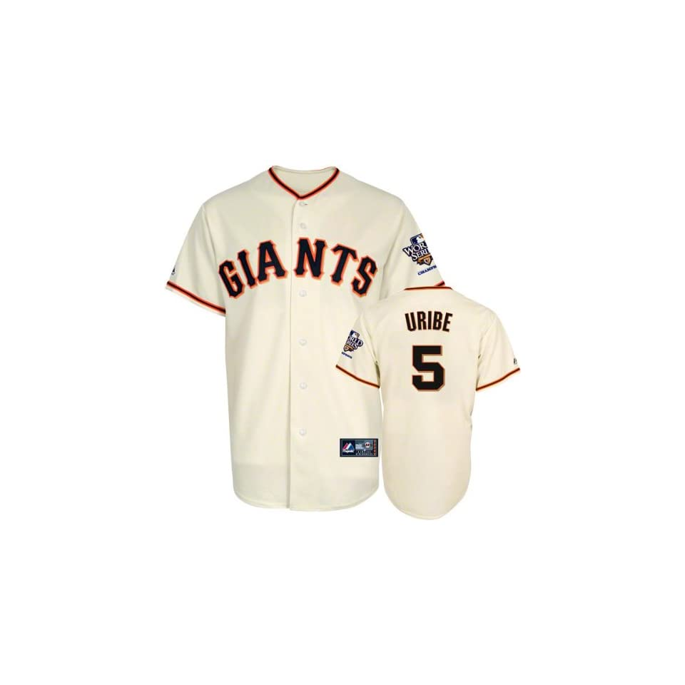 Juan Uribe Jersey San Francisco Giants #5 Home Replica Jersey with 2010 World Series Champs Patch