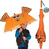 Goldfish Gold Fish Manual Stick Kids Umbrella Childrens Outdoor