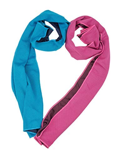 Instant Cooling Relief Chilling Neck Wrap Ice Cold Scarf Towel for Men Women