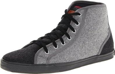 Ben Sherman Men's Breckon High Flannel Fashion Sneaker,Black/Charcoal,8 M US