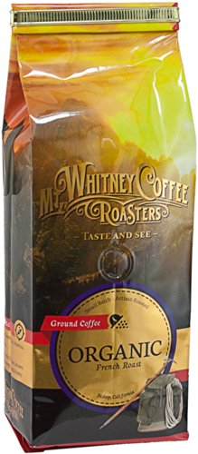Mt. Whitney Coffee Roasters: 12 Oz, Usda Certified Organic French Roast, Dark Roast, Ground Coffee