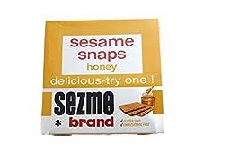 Sezme Sesame Snaps Honey flavor, 40-gram, (Pack of 24)
