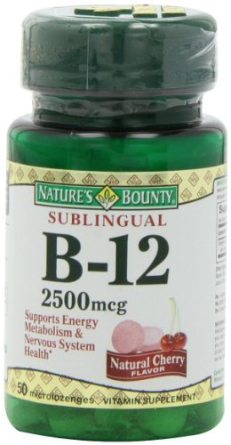 Nature'S Bounty Sublingual Vitamin B-12, 2500Mcg, 50 Tablets (Pack Of 5)