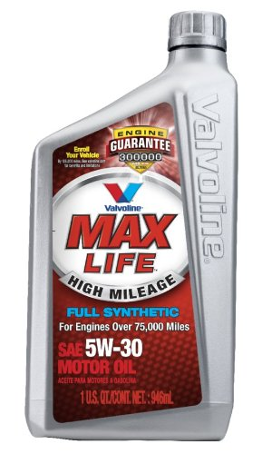 Valvoline VV179  MaxLife Synthetic SAE 5w30 Motor Oil, Pack of Six 1 Quart Bottles