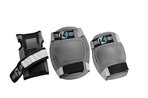 Kryptonics-Starter-Knee-Elbow-Wrist-Pad-Set-Grey