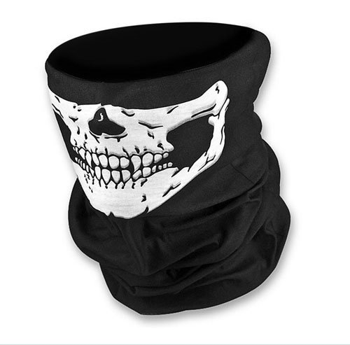 Skull-Bandana-Bike-Motorcycle-Helmet-Neck-Face-Mask-Paintball-Ski-Sport-Headband-Color-Black