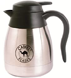 Camel Coffeepot Stainless Steel Vacuum Flask with Lid, Size -- 600 ml - For Home, Travel, Picnics, Vacations