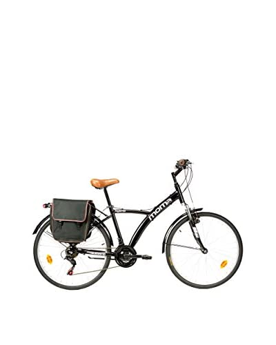MOMA BIKES Bicicleta Trekking 26 Bike Alu 18V Hybrid Negro