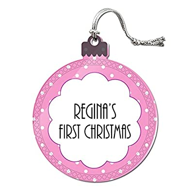 Acrylic Christmas Tree Holiday 1st First Ornament Names Female Re-Ri
