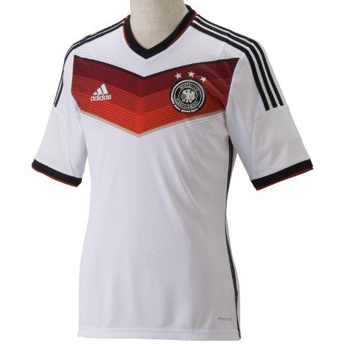 (アディダス)adidas ドイツ代表 ホーム レプリカジャージー S/S AE136 G87445 ホワイト/ブラック/ビクトリーレッドS04/マットシルバー J/M