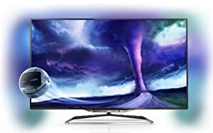 Philips 55PFL8008S/12 140 cm (55 Zoll) Ambilight 3D-LED-Backlight-Fernseher, EEK A+ (Full HD, 1400Hz PMR, DVB-T/C/S2, CI+, Smart TV, WiFi) anthrazit
