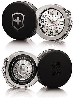 Victorinox swiss army 241461 alarm 2010 silver dial pocket watch image