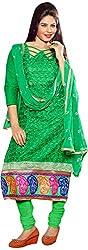 RADHE STUDIO Women's Cotton Un-Stitched Salwar Suit (RSOM YOUR 16003, Green)