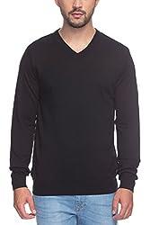 Raymond Men's Woolen Sweater (8907252510672_RMWX00365-K8_44_Black)