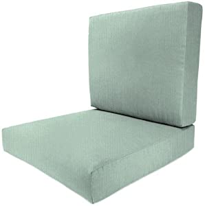Bullnose deep seating outdoor chair cushion for Bullnose chaise outdoor cushion
