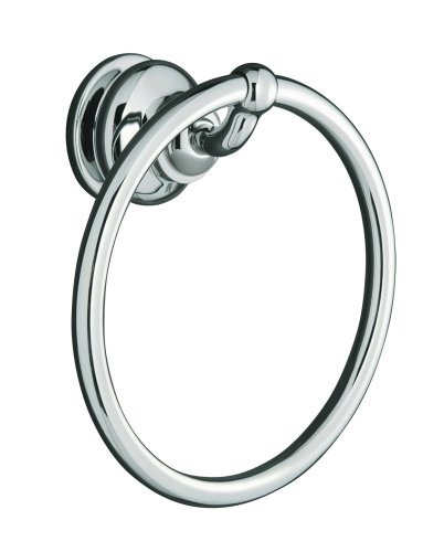 KOHLER K-12165-CP Fairfax Towel Ring, Polished Chrome