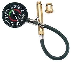 Draper 37442 Compressiomètre pour moteur pétrole 0-300 psi (0-21 bar) Adaptateurs 14 et 18 mm
