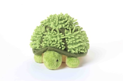 Multipet Topsy Turtle 8-Inch Plush Dog Toys that Squeak, Colors/Cloth Vary