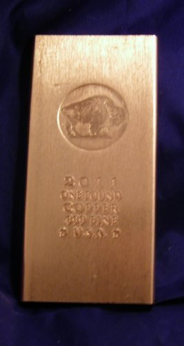 1 Pound .999 Copper Bullion Bar: (Long Style) @ Great Price