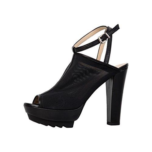 sandali scarpe V 1969 VIRGINIE_BLACK Nero