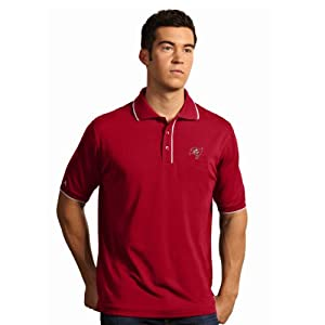 NFL Tampa Bay Buccaneers Mens Elite Desert Dry Polo by Antigua