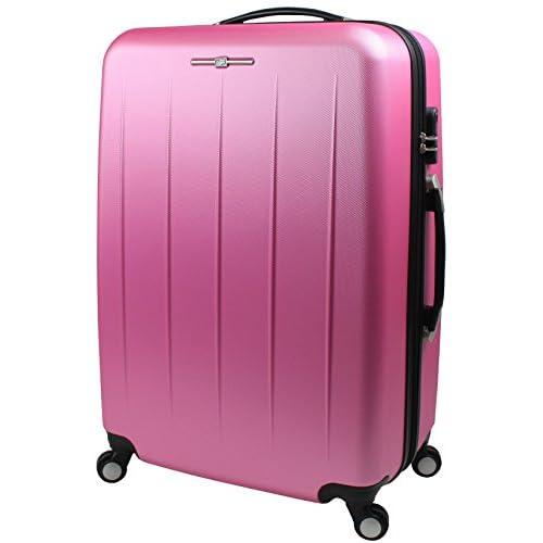 【SUCCESS サクセス】 【 アウトレット スーツケース 大型 Lサイズ 超軽量 キャリーバッグ 4輪 【AT-9006 シングルファスナーモデル】 (大型 75cm(Lサイズ), ピンク)