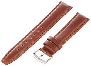 Hadley-Roma Men's MSM881RAC-180 18-mm Honey Oil-Tan Leather Watch Strap