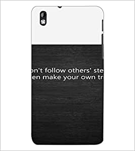PrintDhaba Quote D-4720 Back Case Cover for HTC DESIRE 816 (Multi-Coloured)
