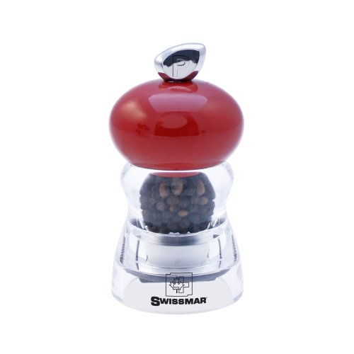 Swissmar Andrea 4-Inch Pepper Mill, Glossy Red