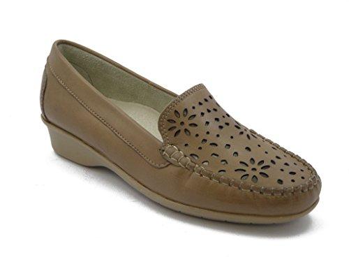 Mocassino Kelidon linea comfort, scarpa in pelle con suola gomma flessibile e antiscivolo, Estivo-5467