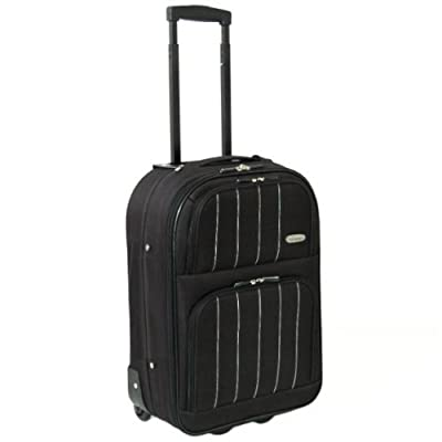 Karabar Cabin Approved 19 Inch Super Lightweight Suitcase 48 x 35 x 20 cm all parts included (Black)