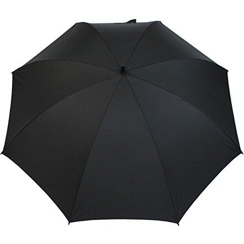 iX-brella Leichter Voll-Fiberglas- Regenschirm für 2 Personen - Größe XXL - sehr stabil - Golfschirm (schwarz) -