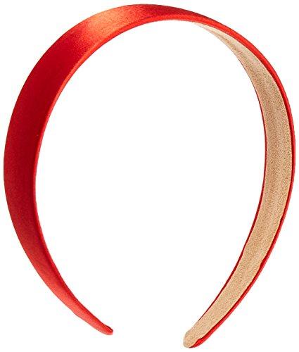 Trimweaver 1-Piece 25mm Satin Covered Headband, 1-Inch, Red