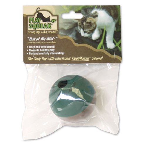 Our Pets CT-10167 Play-N-Squeak Ball Of The Wild Cat Toy