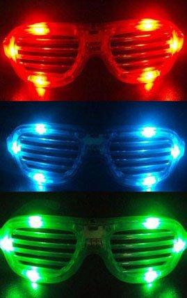 盛り上げ名人 !  LED メガネ 光る サングラス 3色セッ ト