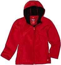 Dickies  Girls 7-16 Hooded Softshell Jacket, English Red, Medium
