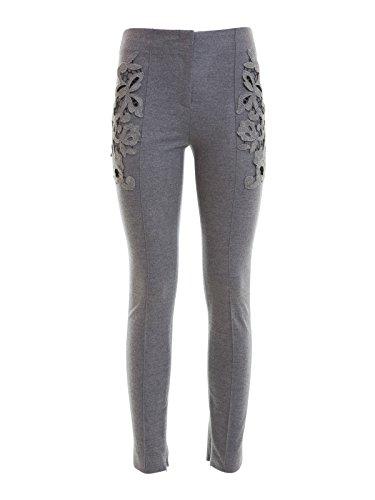 Pantalone grigio con pizzo-38