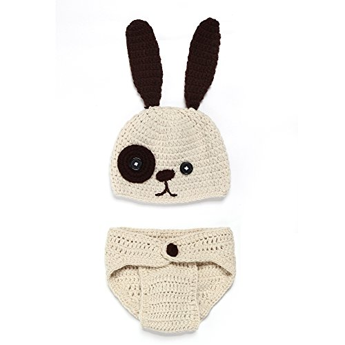 Lidiano Baby Bunny Handmade Crochet Knit Photography Props Costume Set