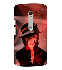 Kill You With My Face 3D Hard Polycarbonate Designer Back Case Cover for Motoroal Moto X Play