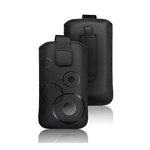 tag-24 Schutzhülle Slider Deko Etui Handytasche Cover passend für Sony Xperia Pro /mk16i Farbe schwarz