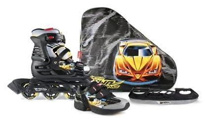 Powerslide hot wheels x-blade-taille 33/34 (noir/jaune)